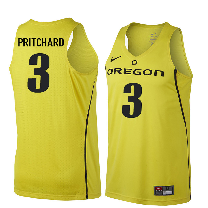 Men Oregon Ducks #3 Payton Pritchard College Basketball Jerseys Sale-Yellow
